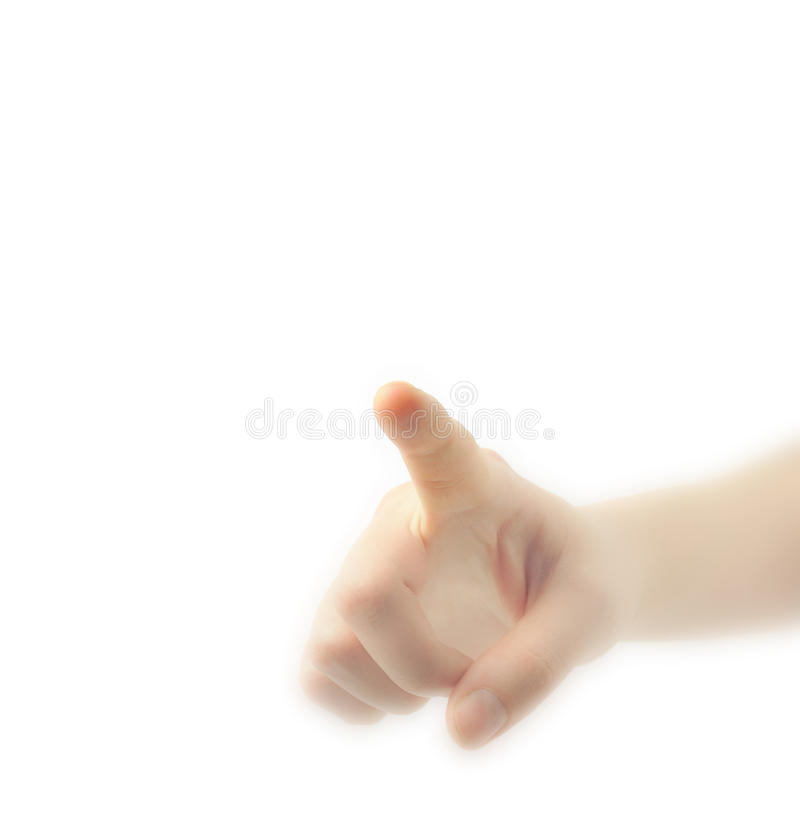 Download Hand Pointing, Touching Or Pressing Stock Images - Image: 13001844