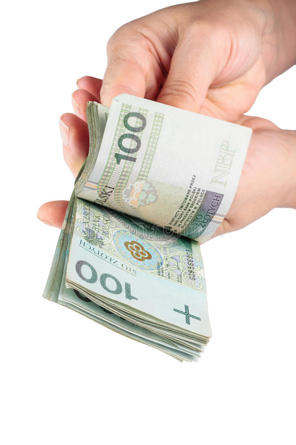 Download Hand With Polish Money Stock Images - Image: 35891314