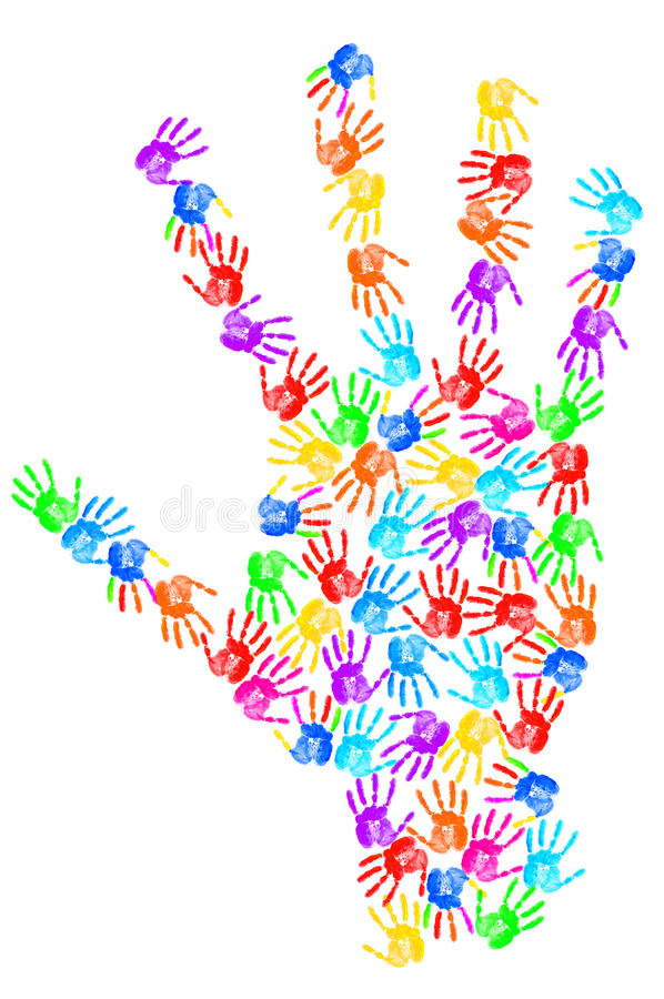 Download Hand print stock photo. Image of creativity, education - 22992596