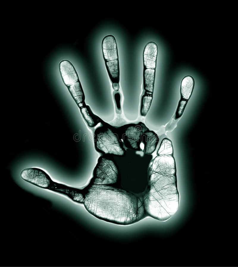 Hand Print Aura stock illustration