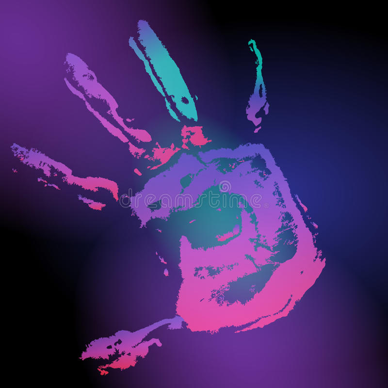 Download Hand print on black stock photo. Image of colorful, harmony - 25625382