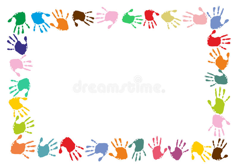 hand print boarder stock illustration illustration of child clipart a-z child clipart mirror