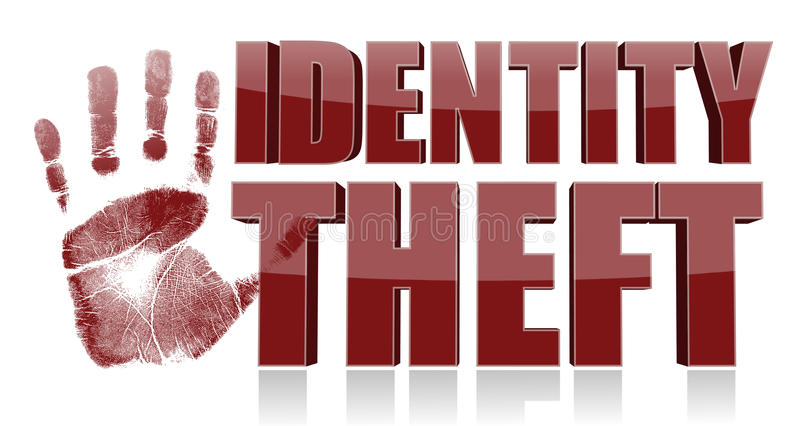 Download Hand Print With Identity Theft Text. Stock Illustration - Image: 28721406