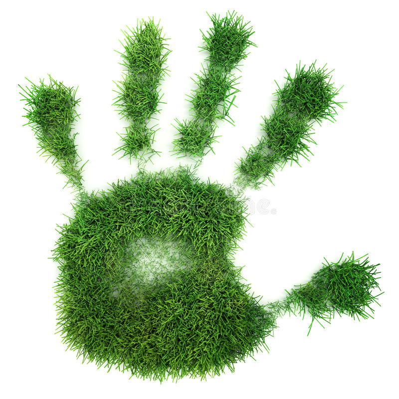 Free Hand Print Of Grass Royalty Free Stock Photos - 12850008