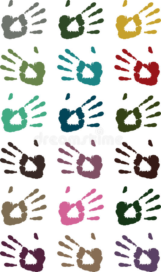 Hand print pattern vector illustration