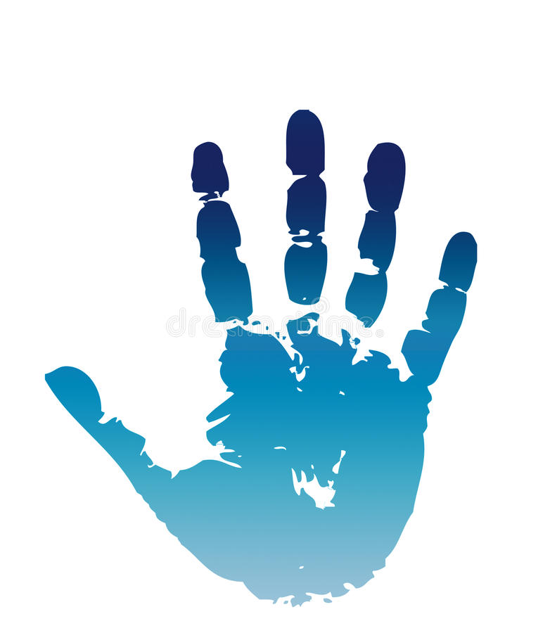 Hand print - stop stock image
