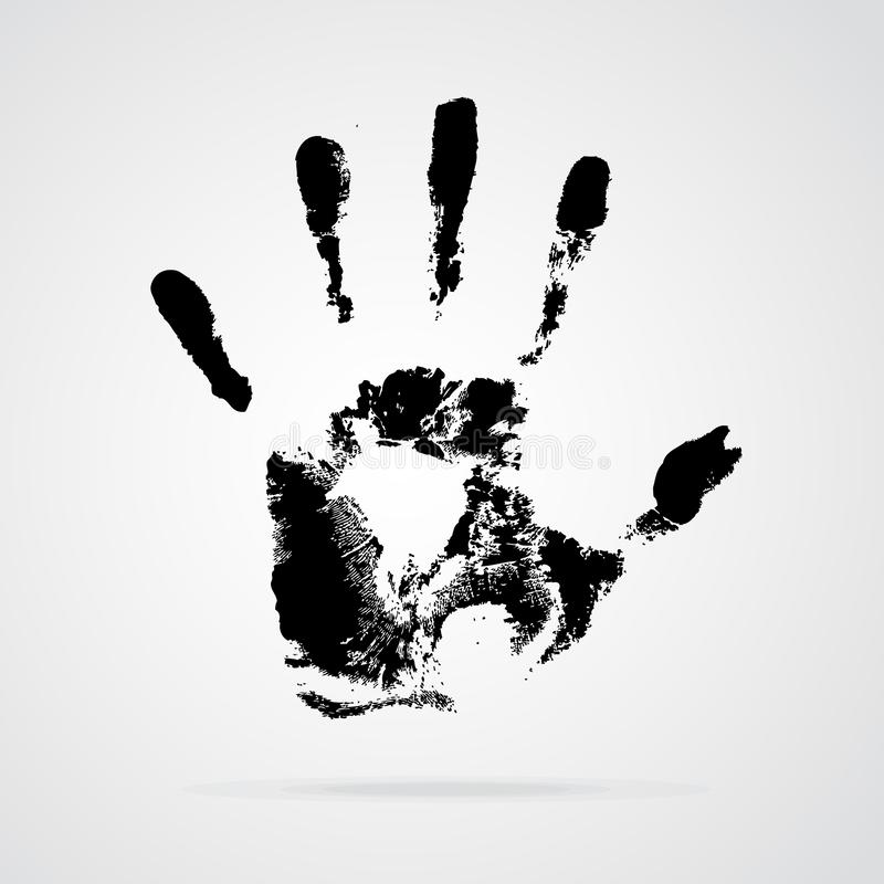 Hand print on white background, Print of hand of human. vector illustration vector illustration