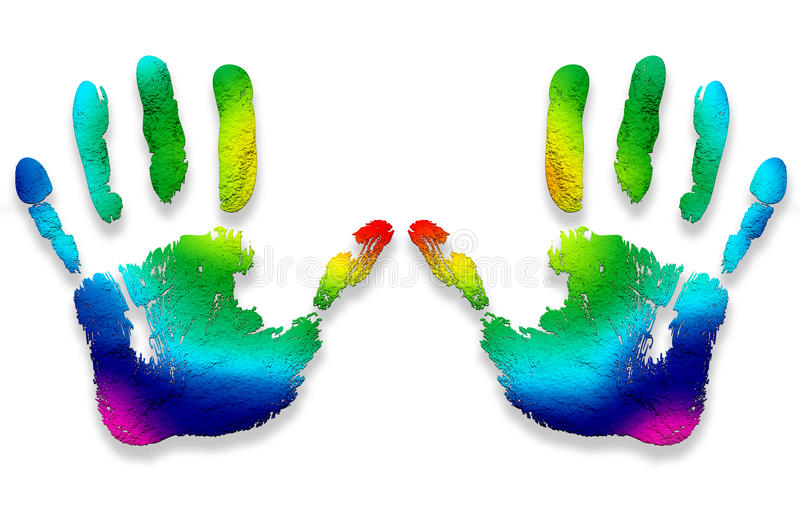 Download Hand Prints Colors Royalty Free Stock Photography - Image: 20247347