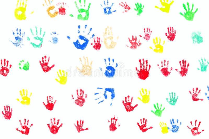 Download Hand Prints Diversity Stock Photos - Image: 22458813