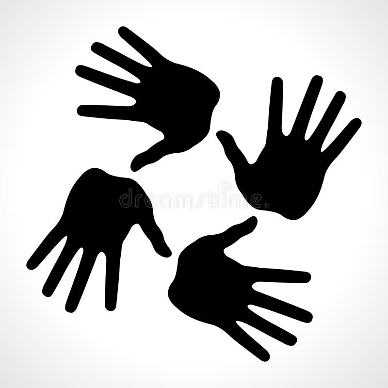 Download Hand prints icon stock image. Image of dirty, order, black - 24872873