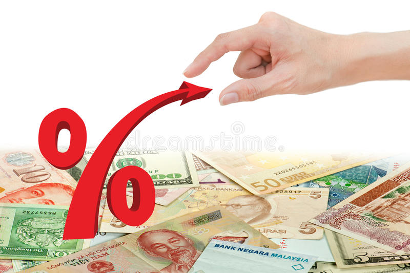 Download Hand Pull Red Percentage Symbol Stock Photo - Image: 20915984