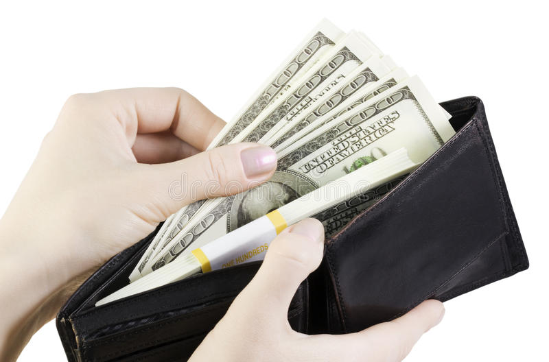Download Hand Pulling Dollars Stock Images - Image: 13391434