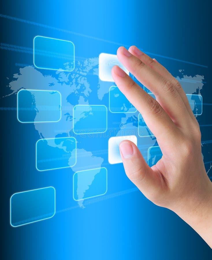 Download Hand pushing stock image. Image of keyboard, internet - 21109471