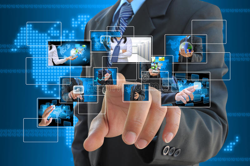 Download Hand pushing stock photo. Image of choice, finger, associate - 26455192