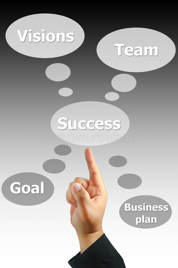 Download Hand Pushing Business Success Stock Illustration - Image: 22009249