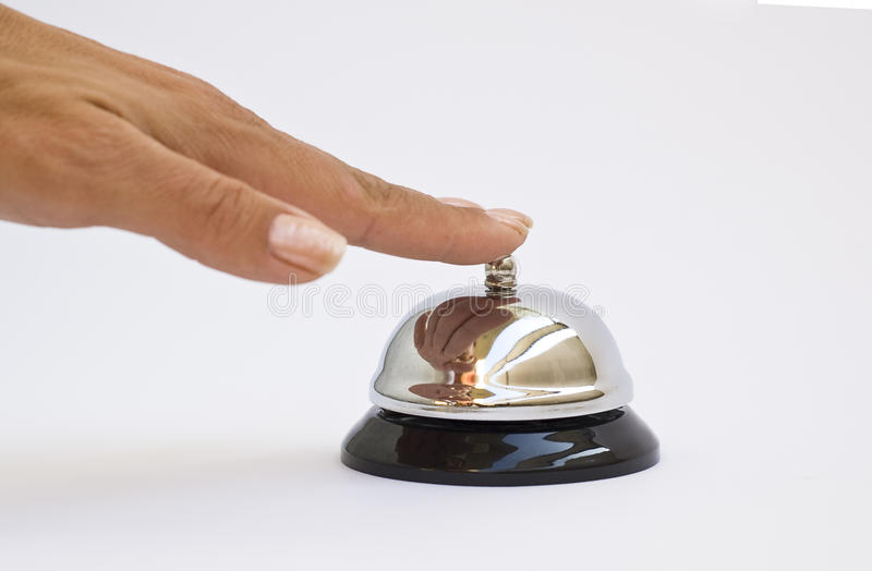 Download Hand pushing button stock photo. Image of hotel, push - 10363758