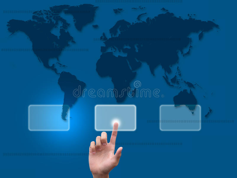 Download Hand pushing a button stock photo. Image of click, generation - 20872390