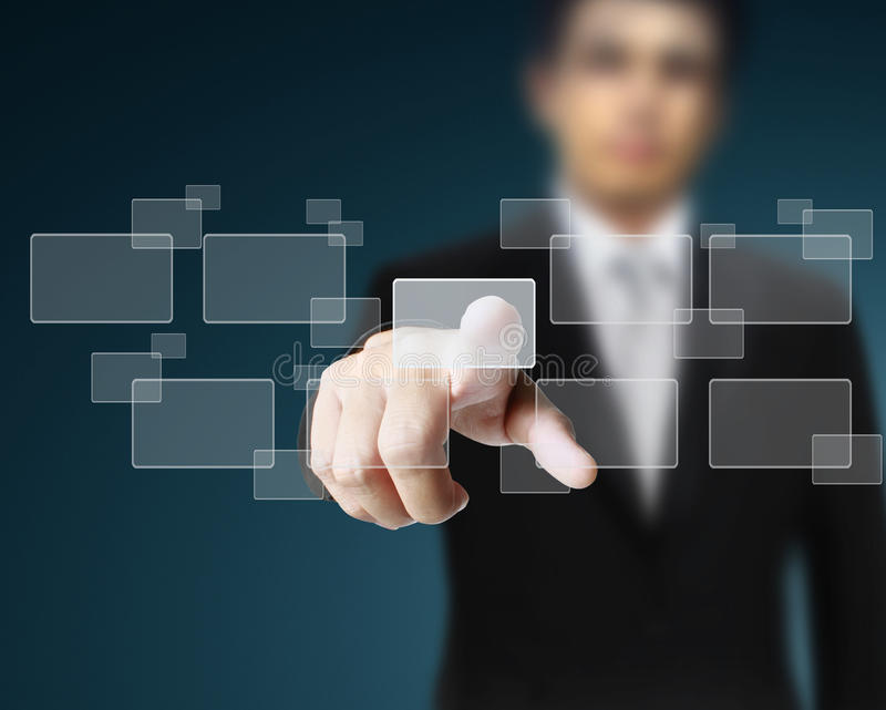Download Hand Pushing On A Touch Royalty Free Stock Image - Image: 19763266