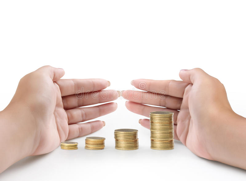 Download Hand put coin to money stock photo. Image of financial - 29019808
