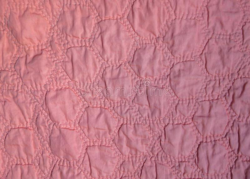 Hand-Quilted Pink Hexagons royalty free stock photo