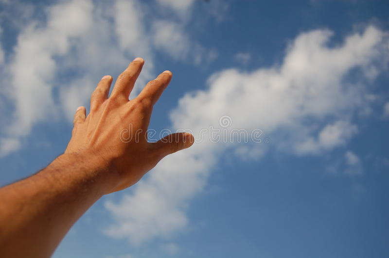 Download Hand Reach for the Sky stock photo. Image of cloud, life - 22814560