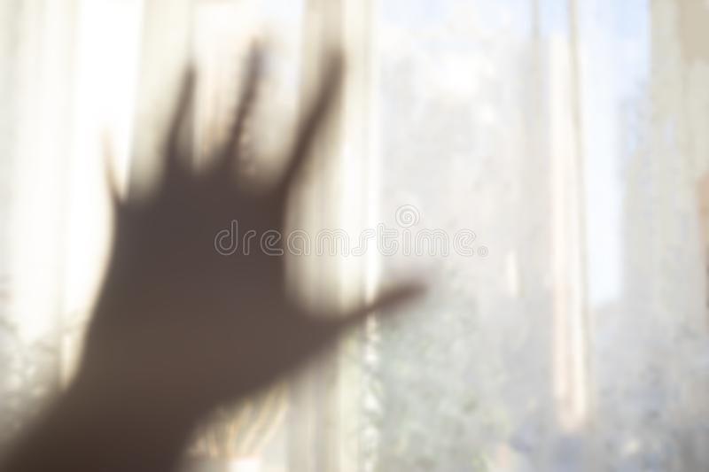 Hand reaching for the light. royalty free stock images