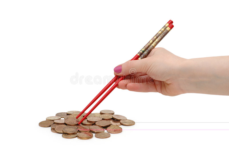 Download Hand with red chopsticks stock image. Image of background - 2657471