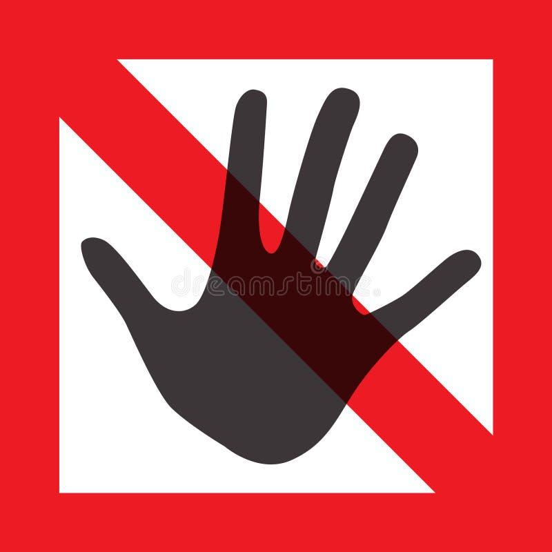 Download Hand In Red Frame. Vector Warning Symbol. Stock Vector - Illustration of background, vector: 116742634