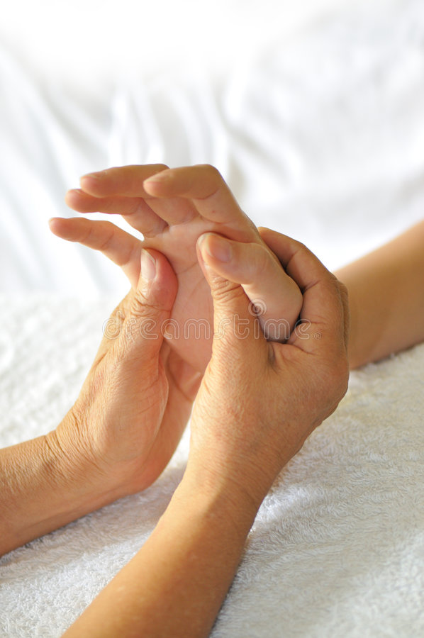 Hand Reflexology Series 5 royalty free stock photos