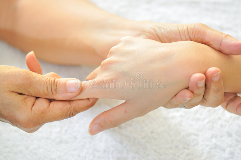 Hand Reflexology Series 7 royalty free stock photos