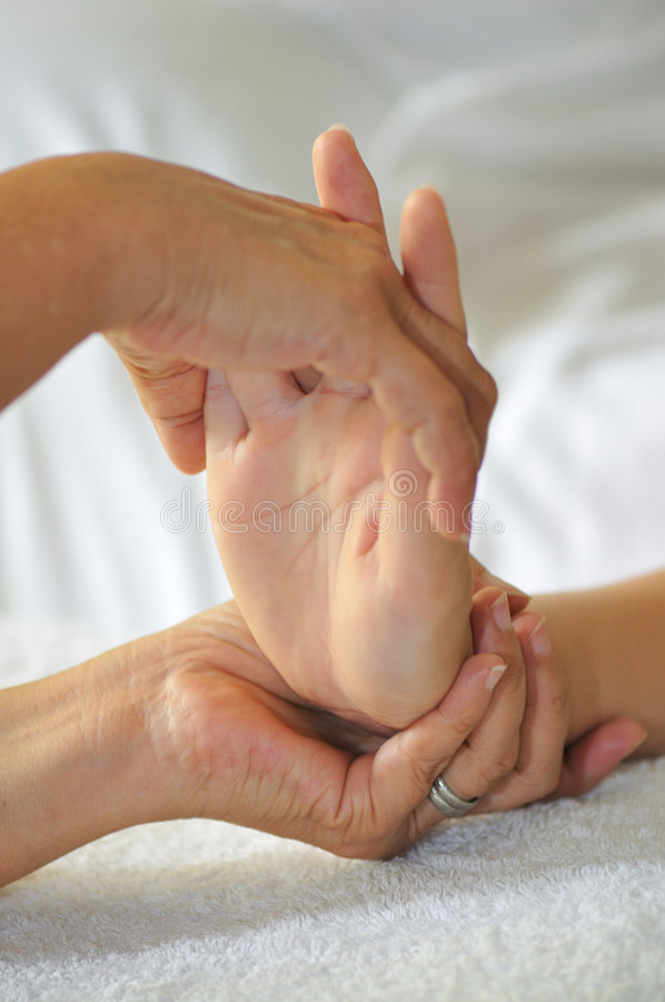 Hand Reflexology Series 8 royalty free stock photo