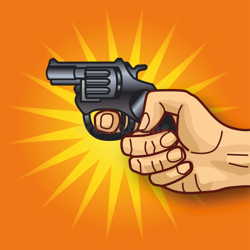 Download Hand with revolver stock vector. Illustration of competence - 36747461