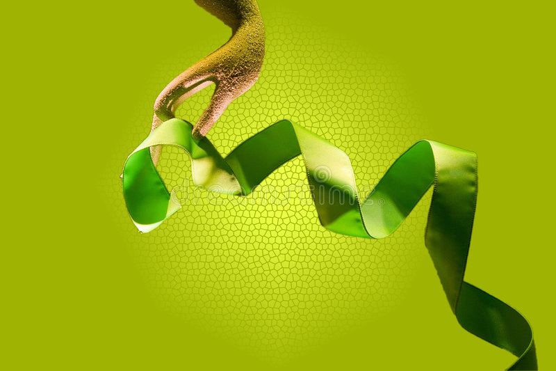 Download Hand with ribbon stock photo. Image of ribbons, ribbon - 3842896
