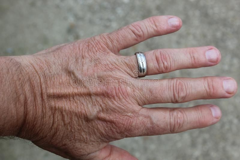 Hand and Ring royalty free stock photo