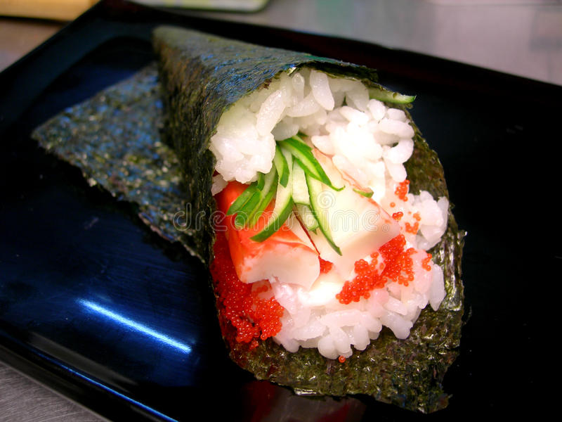 Download Hand roll stock image. Image of roll, food, over, party - 18287639