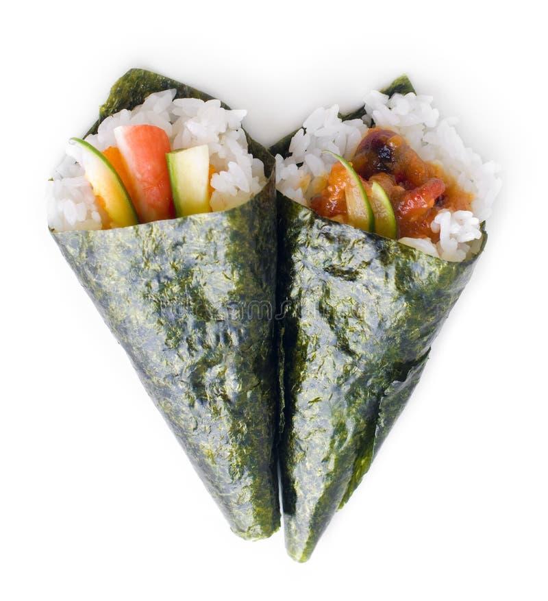Hand Rolled Temaki Sushi Royalty Free Stock Image - Image: 10249456
