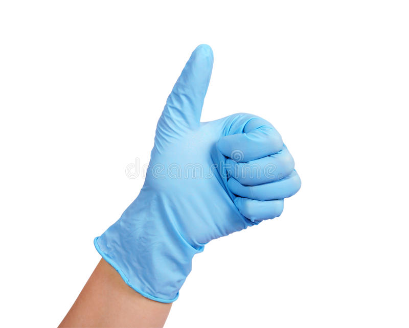 Download Hand in rubber glove stock photo. Image of clean, clothing - 30228396