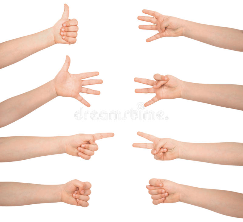 Download Hand's signs and symbols stock image. Image of good, nice - 14857163