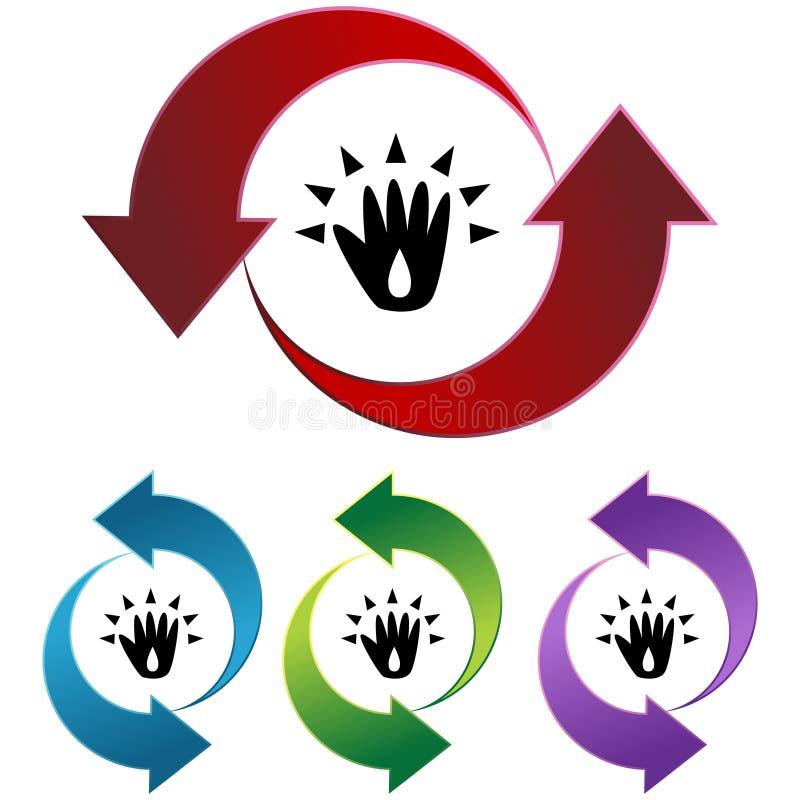 Hand Sanitizer. An image representing Washing or Sanitizing Hands stock illustration