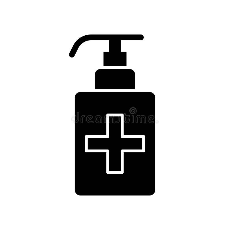 Hand sanitizer vector illustration, Hygiene solid style icon vector illustration