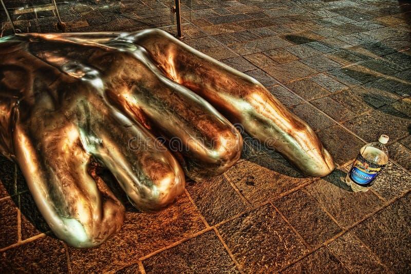 Hand Sculpture stock photography