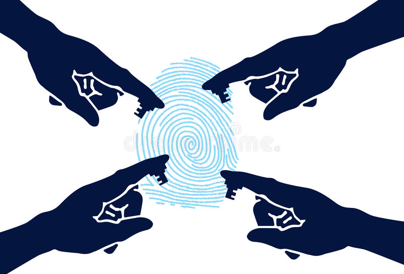 Hand Security stock illustration