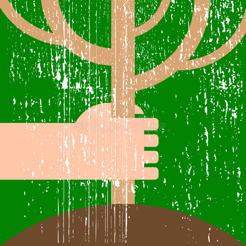 Download Hand with seedling stock vector. Illustration of idea - 23517018