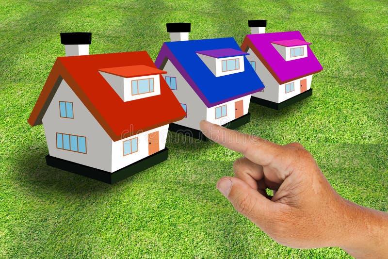 Download Hand select house stock image. Image of human, home, sale - 20784273