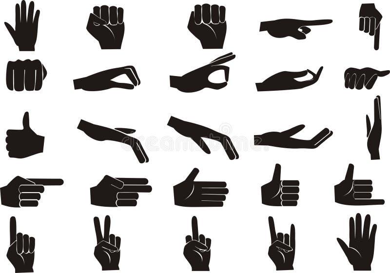 Hand set. Vector illustration of a hand set royalty free illustration