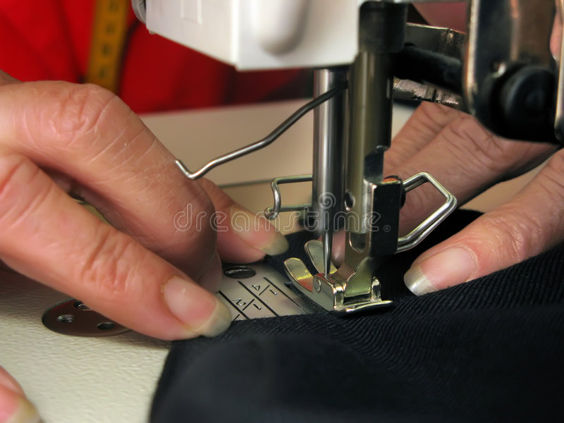 Hand sewing royalty free stock image