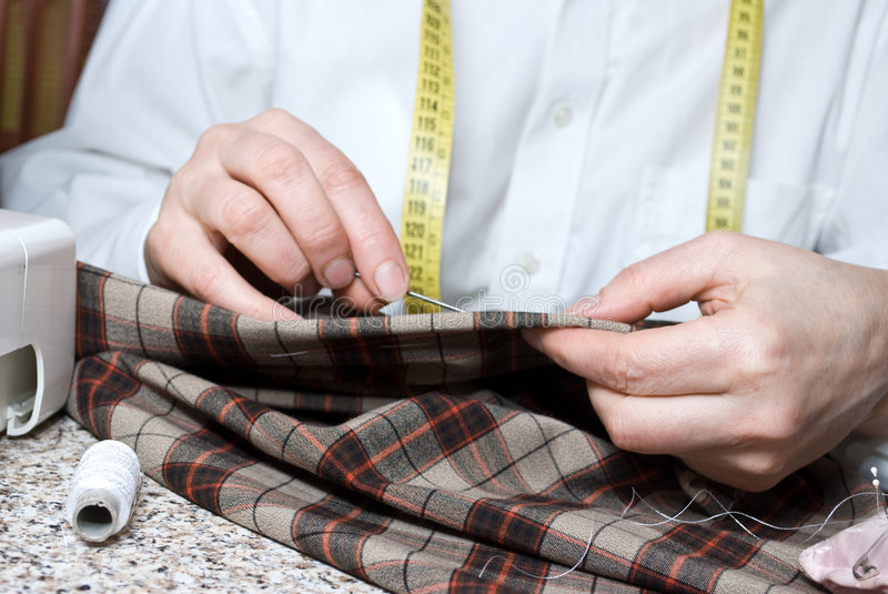 Download HAND SEWING stock photo. Image of material, designer, cutting - 7942510