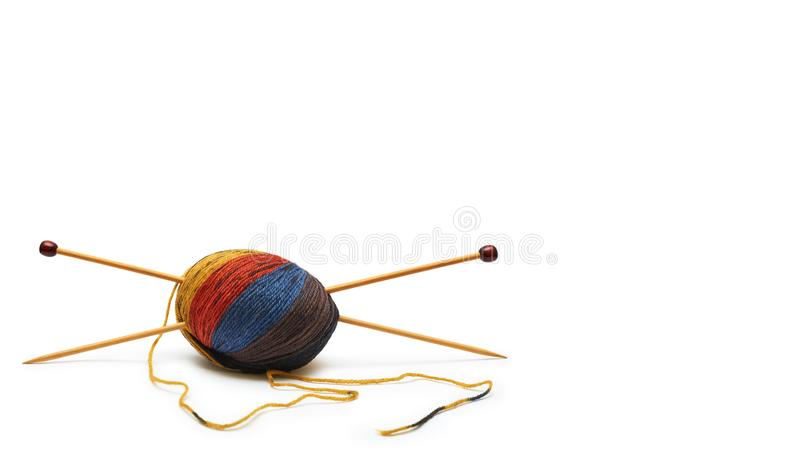 hand sewing Kit at home. Valuable handmade. Isolated on white background. copy space, template. royalty free stock photography