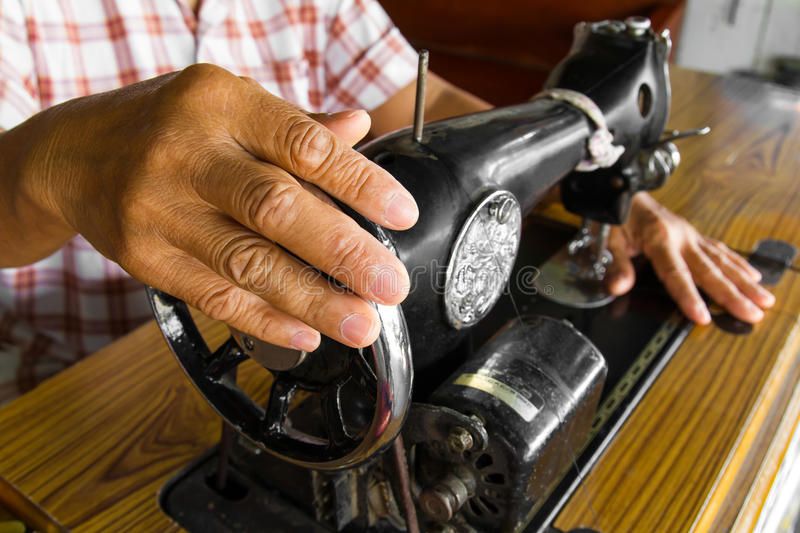 Hand sewing machine royalty free stock images