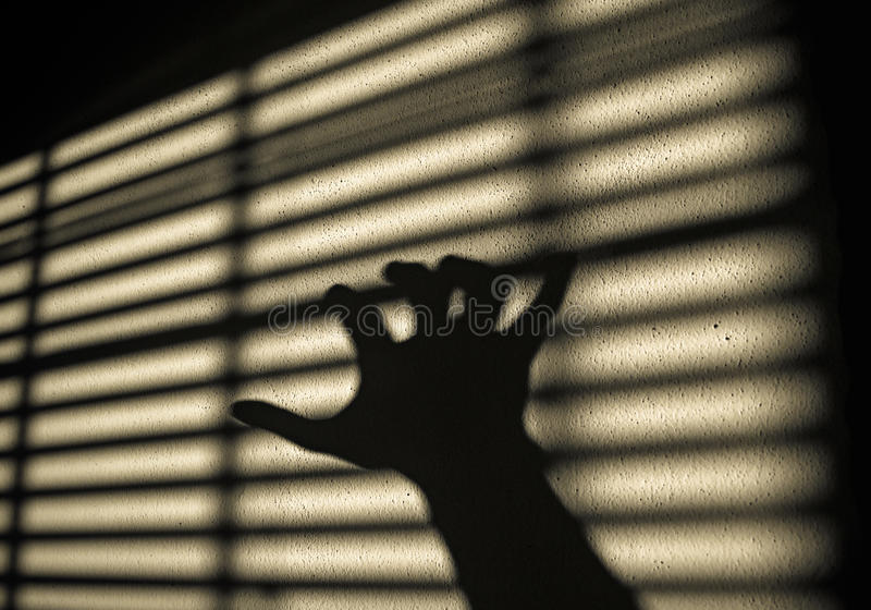 Hand shadow royalty free stock photography